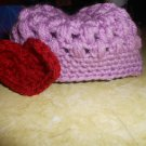 Valentine Puff Stitch Hat for Infant 6 to 9 Months