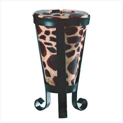 Giraffe Pattern Cone-Shaped Candle