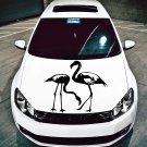 (16''x16'') Vinyl Wall Decal Flamingo Couple Birds Romantic Love Art Decor Sticker + Free Decal Gift