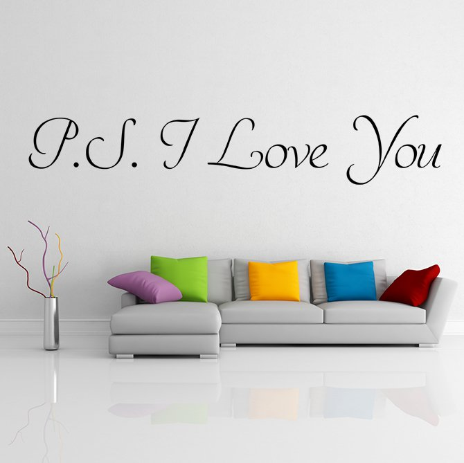 (31''x6'') Vinyl Wall Decal Quote P.S. I Love You / Inspirational Decor Sticker + Free Decal Gift!