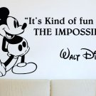 (28''x14'') Vinyl Wall Decal Mickey Mouse Walt Disney Sticker Art Decor Home + Free Decal Gift!