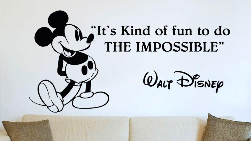 (31''x16'') Vinyl Wall Decal Mickey Mouse Walt Disney Sticker Art Decor Home + Free Decal Gift!