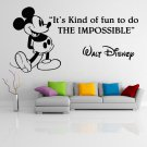 (55''x28'') Vinyl Wall Decal Mickey Mouse Walt Disney Sticker Art Decor Home + Free Decal Gift!