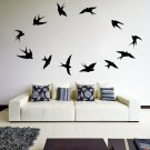 (31''x25'') Vinyl Wall Decal Flock of Birds / Art Decor Home Sticker + Free Decal Gift