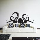 (31''x12'') Vinyl Wall Decal Scary Octopus Head with Tentacle / Art Decor Sticker + Free Decal Gift!