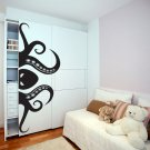 (39''x16'') Vinyl Wall Decal Scary Octopus Head with Tentacle / Art Decor Sticker + Free Decal Gift!