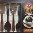 ELIT 1924 Chocolate 6 Spoons (Milk & Dark Chocolate) 54g Turkey Import