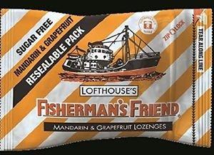 (Pack of 12) Fisherman's Friend 25g Sugar free Mandarin & Grapefruit Lozenges