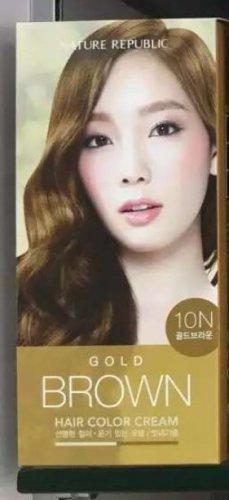 Nature Republic hair color cream- GOLD BROWN 10N