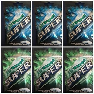Wrigley's Airwaves Super Peppermint x 3 & Menthol x 3 (25g) total 6 packs