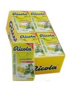 (Pack of 20) Ricola Herbal Sugar-Free Lemon Fresh Mints 25g