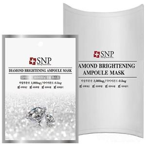 SNP Diamond Brightening Ampoule Mask x 0pcs - Korea Imported