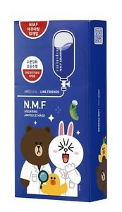 Mediheal LINE FRIENDS N.M.F Aquaring Ampoule Mask (27ml x 10pcs)