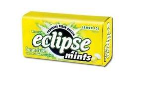(Pack of 8) Eclipse Sugarfree Mints - Lemon Ice 34g