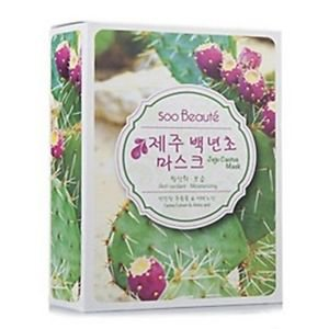 Soo Beauté Jeju Cactus Anti-Oxidant Moisturizing Mask (10piece)