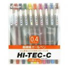 Pilot Hi-Tec-C Gel Ink Pen, 0.4mm Basic Colors - 10 Pen Gift Set