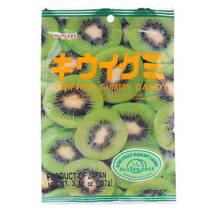 Kasugai Kiwi Gummy Candy 107g (6 Packs)