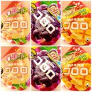 (Pack of 6) Japanese UHA KORORO Super Soft Gummy Candy - Peach, Mango, Grape
