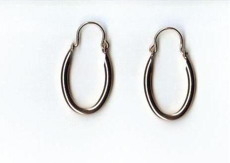 14k Gold GL Hoop Earrings