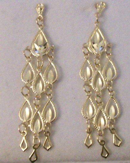 10kt Yellow Gold Chandelier Drop Earrings