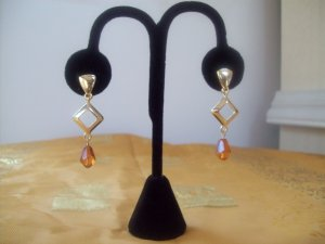 Goldtone Drop Clip on Earrings