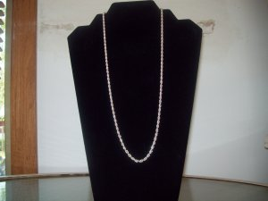 """Sterling """"Caviar"""" Silver Rope Chain Necklace"""