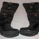 Baby Phat Black And Silver Boots Women's Size 10 Knee High Kimora Lee Simmons