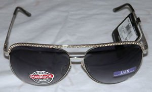 NWT FOSTER GRANT WOMEN'S SILVER LUX 1 STYLE SUNGLASSES 100% PROTECTION!!!