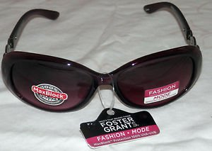 NWT FOSTER GRANT WOMEN'S PURPLE FASHION SUNGLASSES 100% PROTECTION!!!