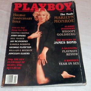 PLAYBOY MAGAZINE JANUARY 1997 NUDE MARILYN MONROE HOLIDAY ISSUE!!