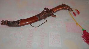 VINTAGE Oriental Chinese / Japanese HORSE Knife Dagger 19 INCHES LONG!!!!!