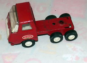 Vintage Red Tonka Lowboy Tractor Trailer RARE!!!