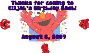 Elmo Funny Faces Treat Box