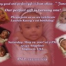 Vanity Birthday Invite with Pink Marble Background