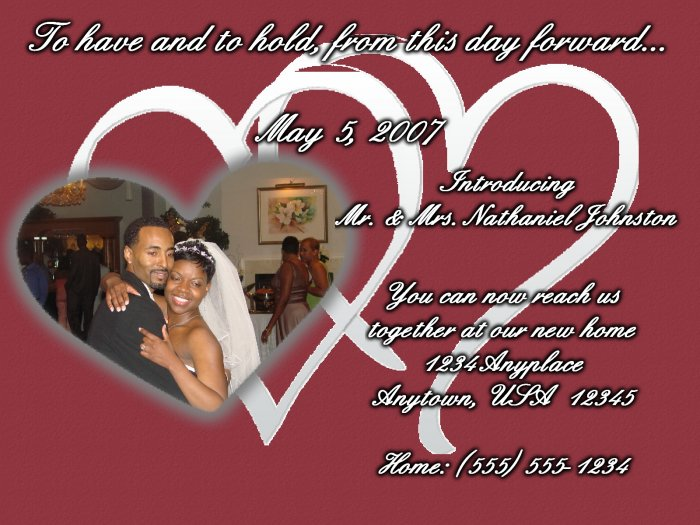 Intertwining Hearts: Wedding Announcement