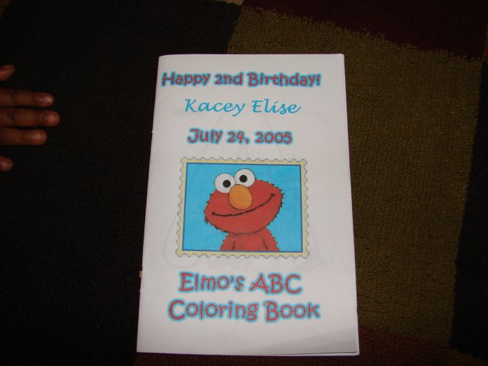 Elmo's ABC Coloring Book Party Favor