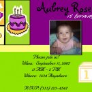 Green & Purple Birthday Invitation
