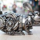 Metal sculpture - Crawl Rabbit - unique metal art decor - home decor