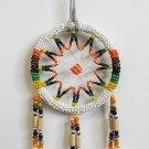 "Small Handmade Native American Beaded Dream Catcher (3"" Diameter)"