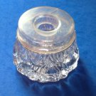 "VINTAGE ANTIQUE EAPG HAIR RECEIVER DRESSER JAR 3 3/4"" X 2 5/8"" - DIFFERENT"