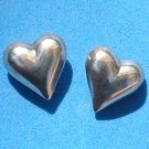 "BEAUTIFUL SOLID STERLING SILVER HEART PIERCED STUD EARRINGS @ 3/4"" X 3/4"""