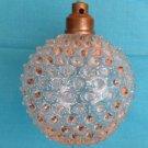 VINTAGE ANTIQUE HOBNAIL GLASS OIL HURRICANE LAMP BASE