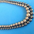 "VINTAGE DOUBLE STRAND OF FAUX PEARLS WITH A STERLING SILVER CLASP 16.5"" X 1/2"""