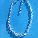 """VINTAGE BEAUTIFUL SPARKLING CRYSTAL CHOKER NECKLACE UP TO 16"""" LONG"""