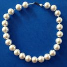 "CLASSIC 3/4"" DIAMETER LARGE COSTUME PEARL 21"" LONG NECKLACE"