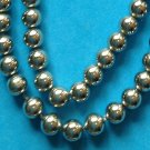 "SILVER TONE BEADS ON A CHAIN NECKLACE 25"" X JUST OVER 1/4"""