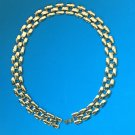 """VERY CLASSY GOLD TONE LINK NECKLACE 18"""" LONG X 5/8"""" WIDE"""