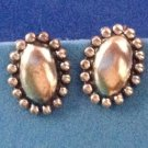 "VINTAGE LOVELY STERLING SILVER SCREW ON EARRINGS 5/8"" X 1/2"". CLASSIC !"