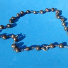"""CLASSIC DEEP BRONZE PEARL & 14k YELLOW GOLD FILL NECKLACE 19"""" LONG X @ 1/4"""" DIAM"""