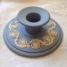 "VINTAGE WEDGWOOD LIGHT BLUE & WHITE JASPERWARE? SINGLE CANDLESTICK 3.75"" X 1.5"""